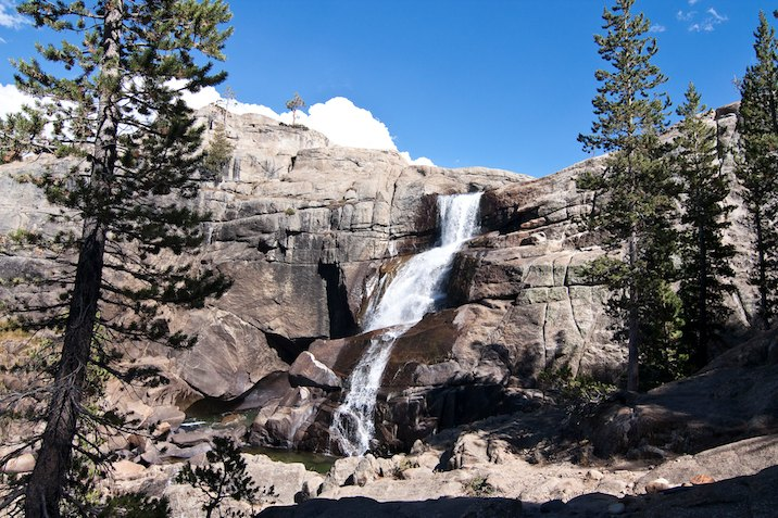Waterfall near Glen Aulin in Yosemite National Park.