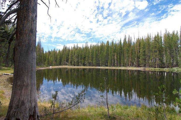 Lake near Glen Aulin in Yosemite National Park.