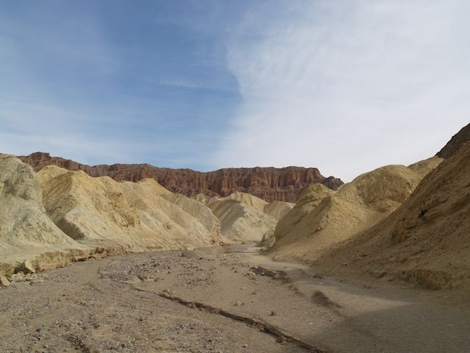 Golden Gate Interpretive Trail in Death Valley, California.