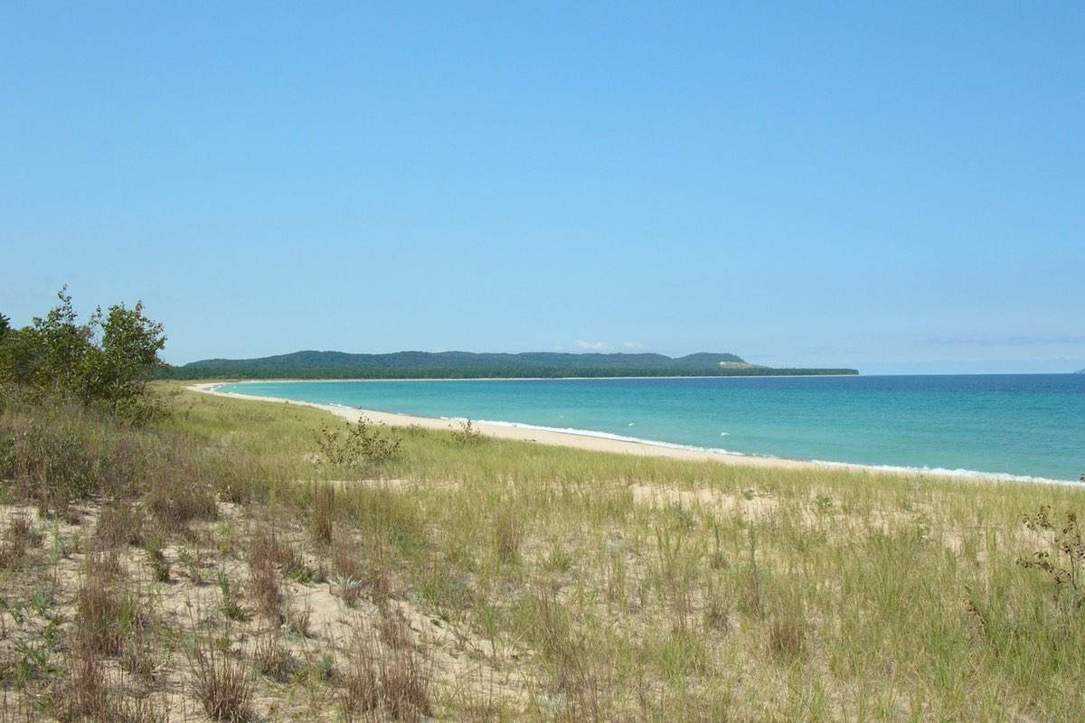 Lake Michigan from the Good Harbor Bay Trail in Sleeping Bear Dunes National Lakeshore.