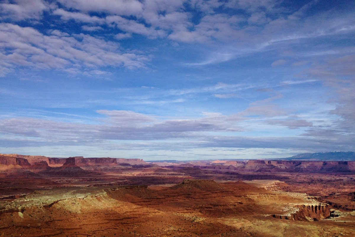 View along the Gooseberry Trail in Canyonlands National Park.