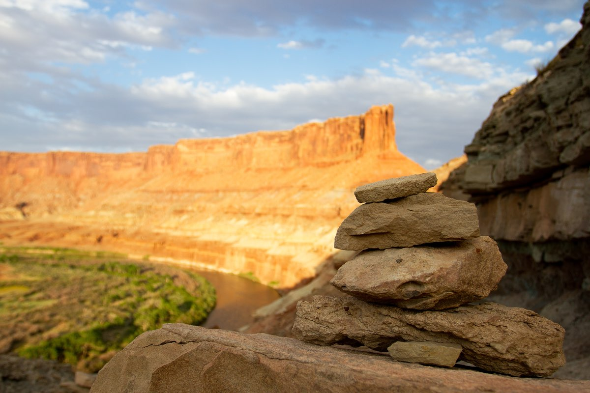 Sunset along the Green River in Canyonlands National Park.