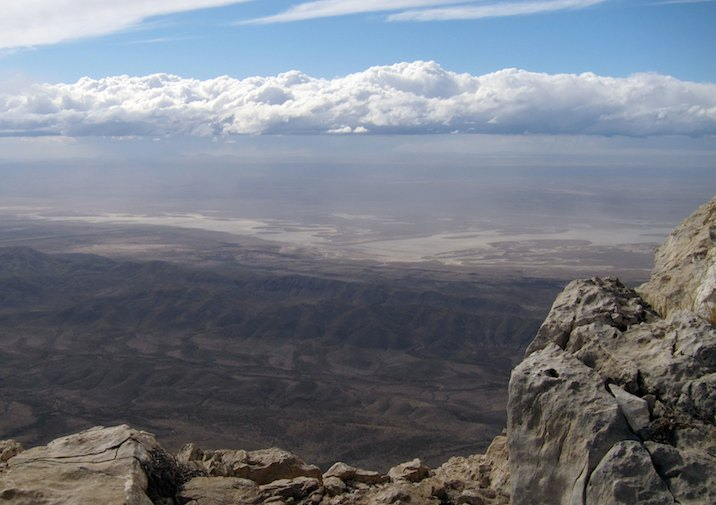 Sweeping view from the Guadalupe Peak Trail in GMNP, Texas.