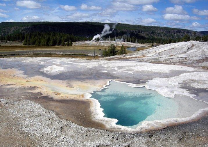 Upper Geyser Basin in Yellowstone National Park.