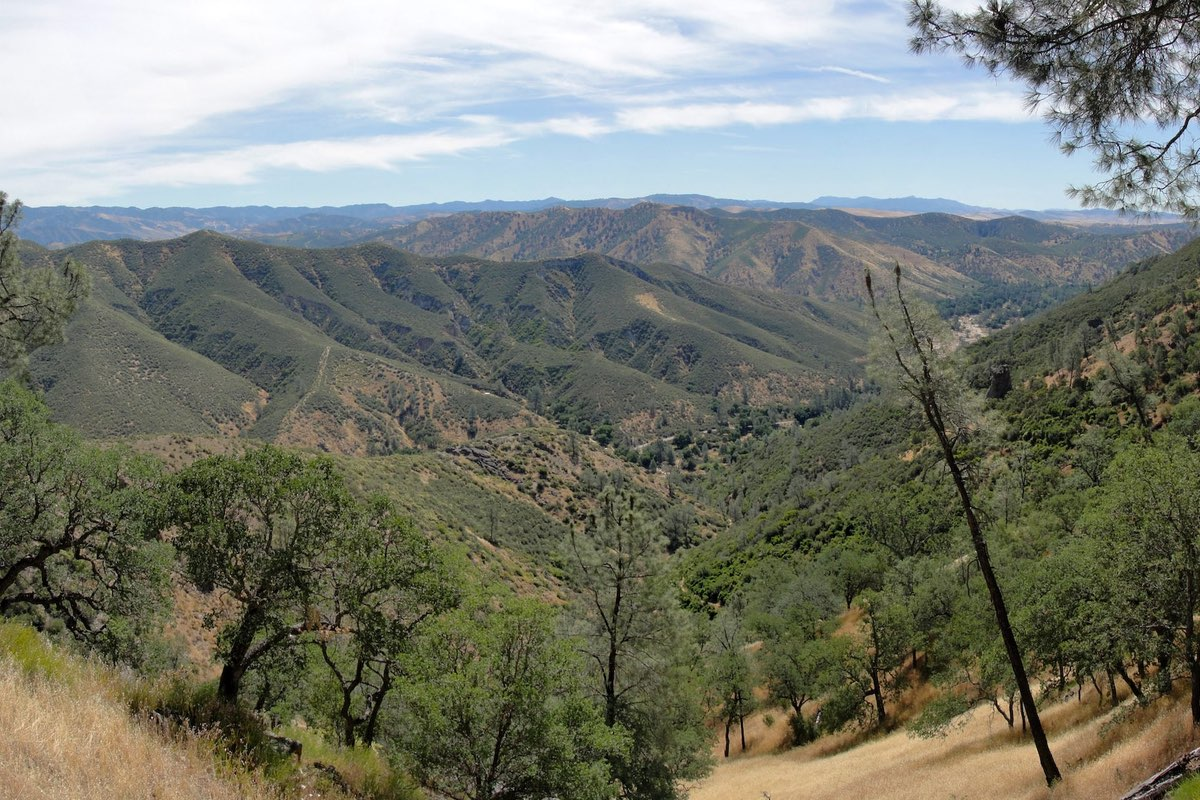 View from the High Peaks Trail Pinnacles National Park.