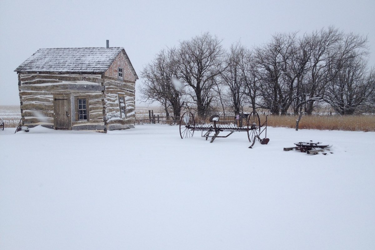 Winter in Homestead National Monument, Nebraska.