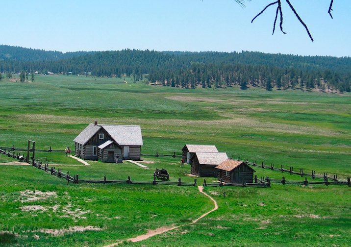 Hornbek Homestead in Florissant Fossil Beds National Monument near Colorado Springs.