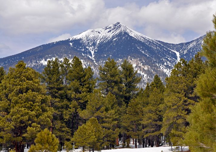 Arizona's high point, Humphreys Peak.