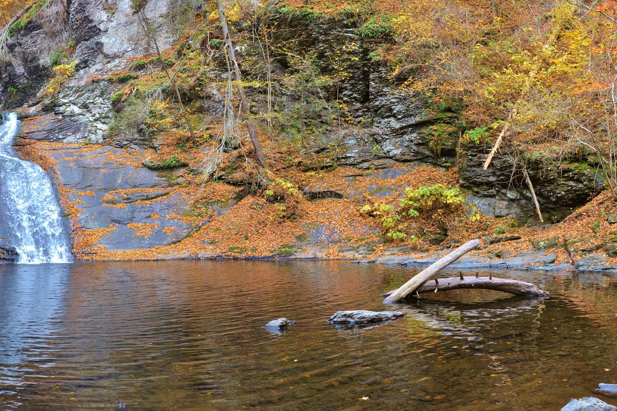 Beautiful Indian Ladder Fall in Delaware Water Gap National Recreation Area.