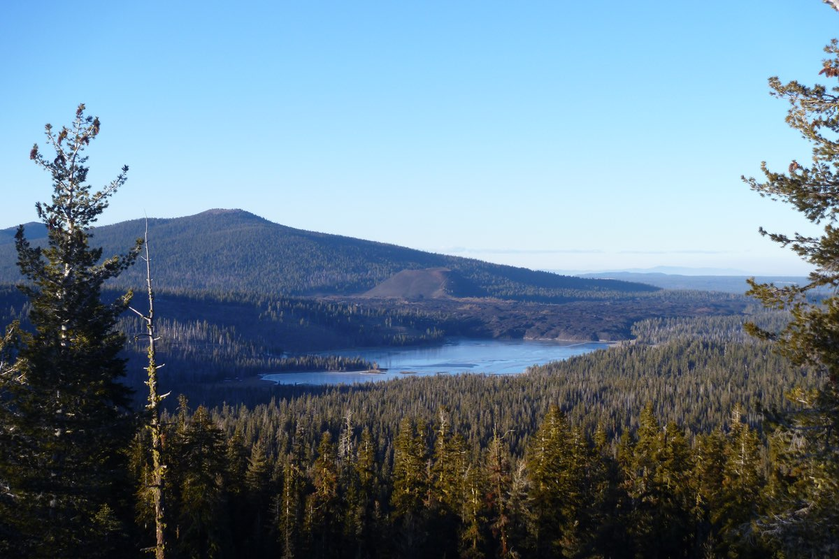 View from Inspiration Point in Lassen Volcanic National Park.