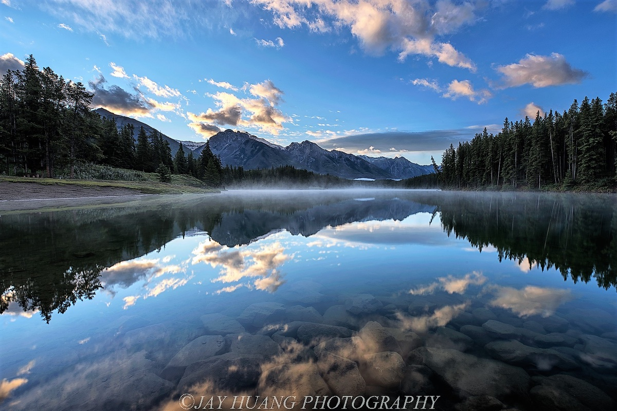Johnson Lake in Banff National Park.