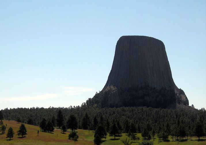 Devils Tower from the Joyner Ridge Trail.