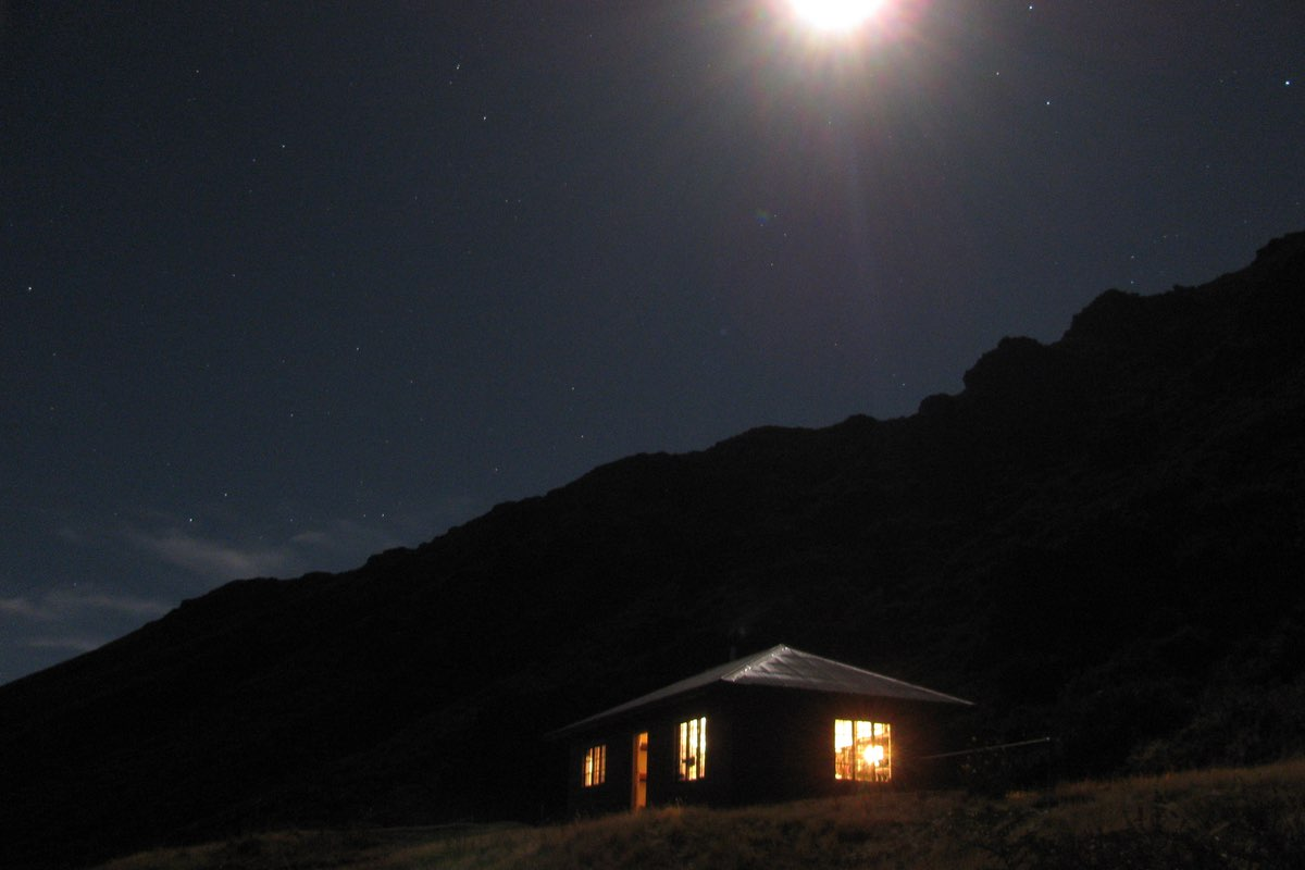 Silent night at Kapalaoa Cabin in Haleakala National Park.