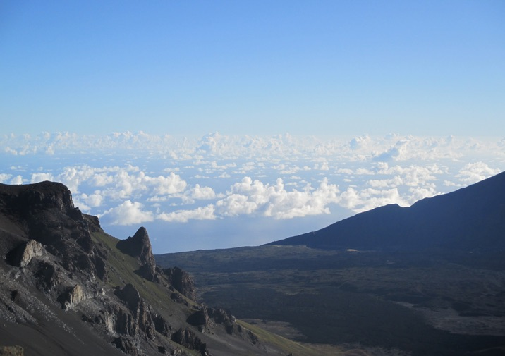 View along the Keonehe'ehe'e Trail in Haleakala National Park.
