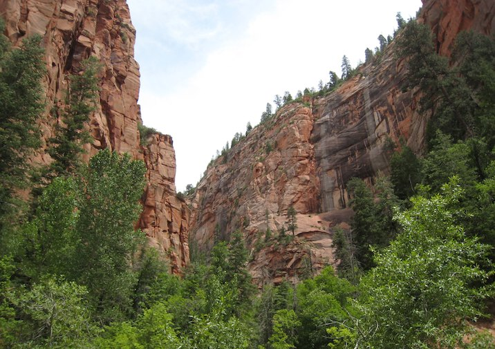 Hiking to Kolob Arch in Zion National Park.