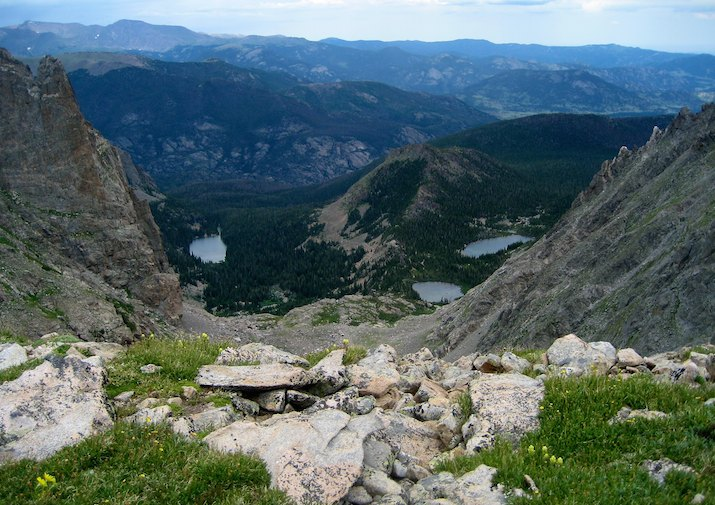 Lake Helene and Odessa Lake in Rocky Mountain National Park.