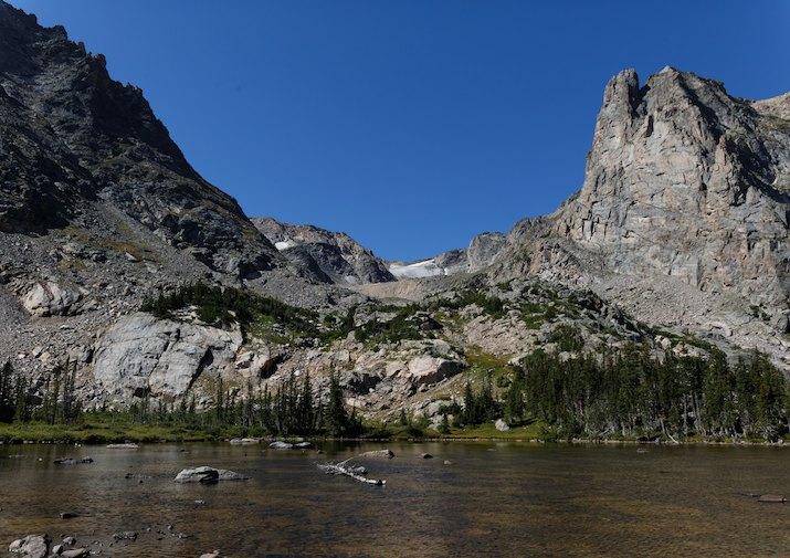 Lake Helene in Rocky Mountain National Park.