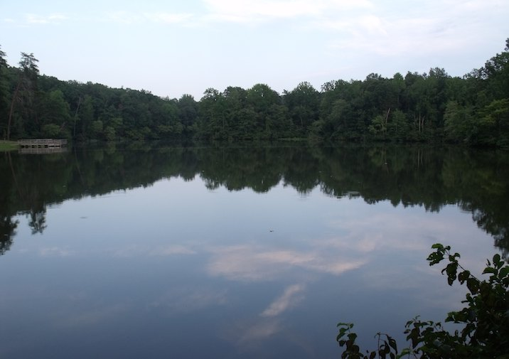 Bear Creek Lake in its namesake State Park in Virginia.