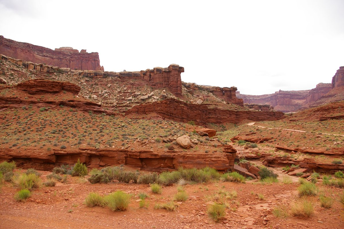 Lathrop Canyon Trail in Canyonlands National Park.