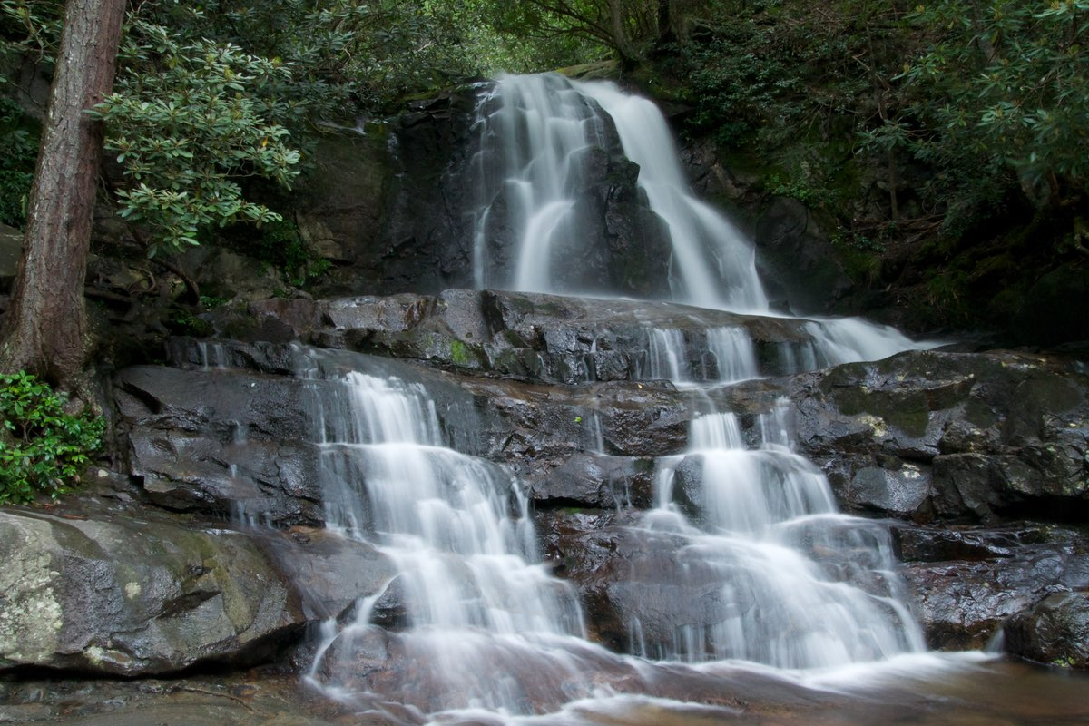 Laurel Falls in Great Smoky Mountains National Park.