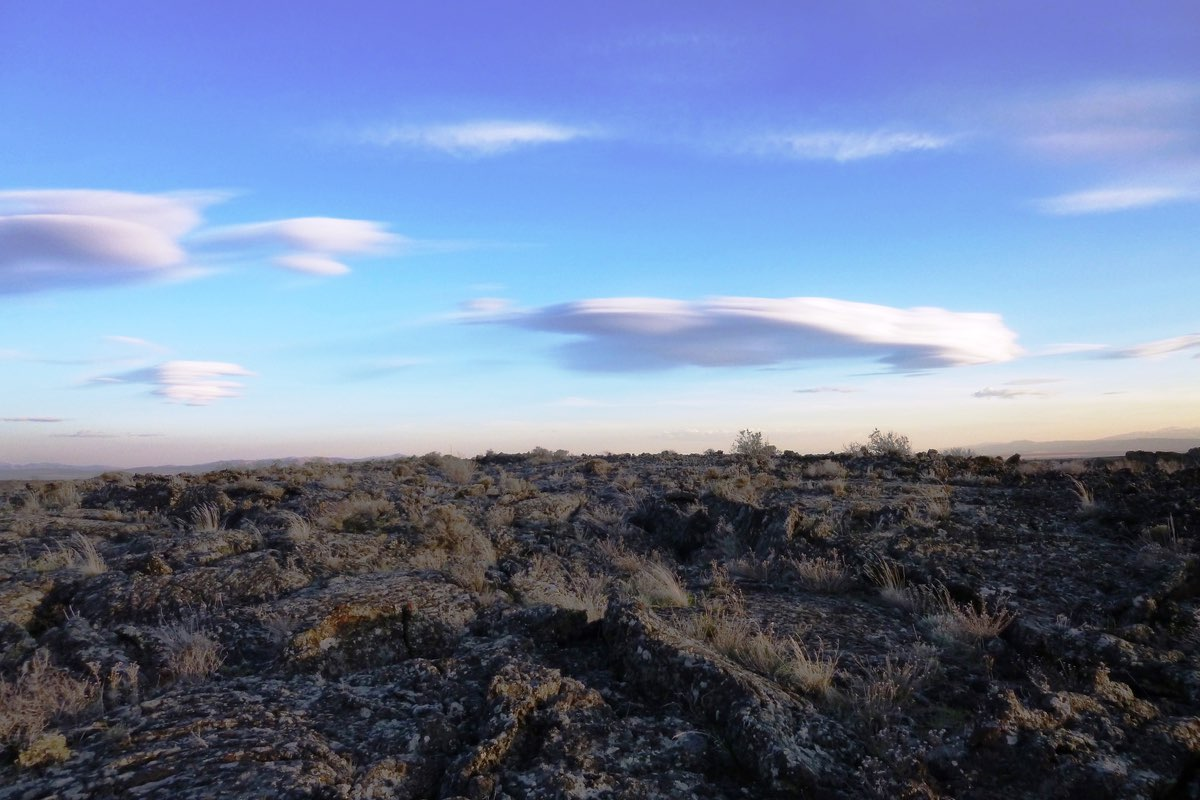 Harsh lava landscape in Craters of the Moon National Monument.