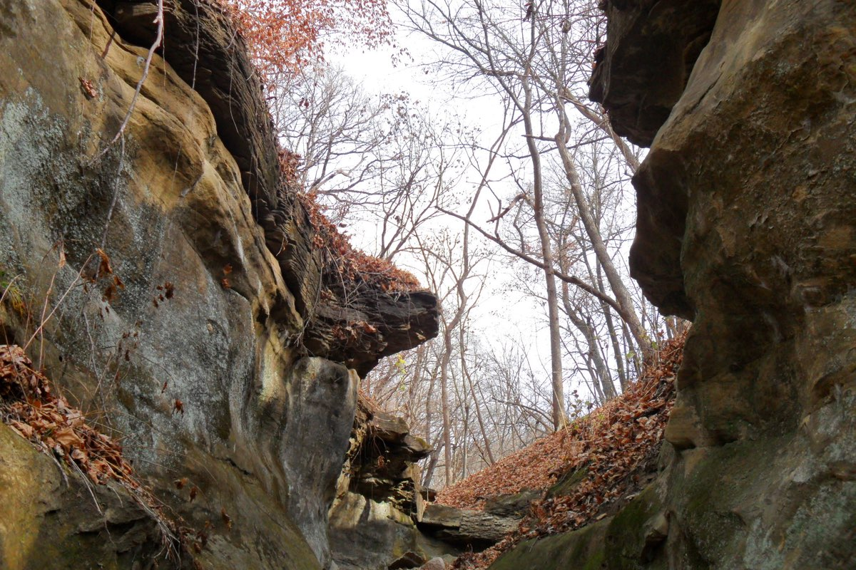 Hiking Ledges State Park in Iowa.