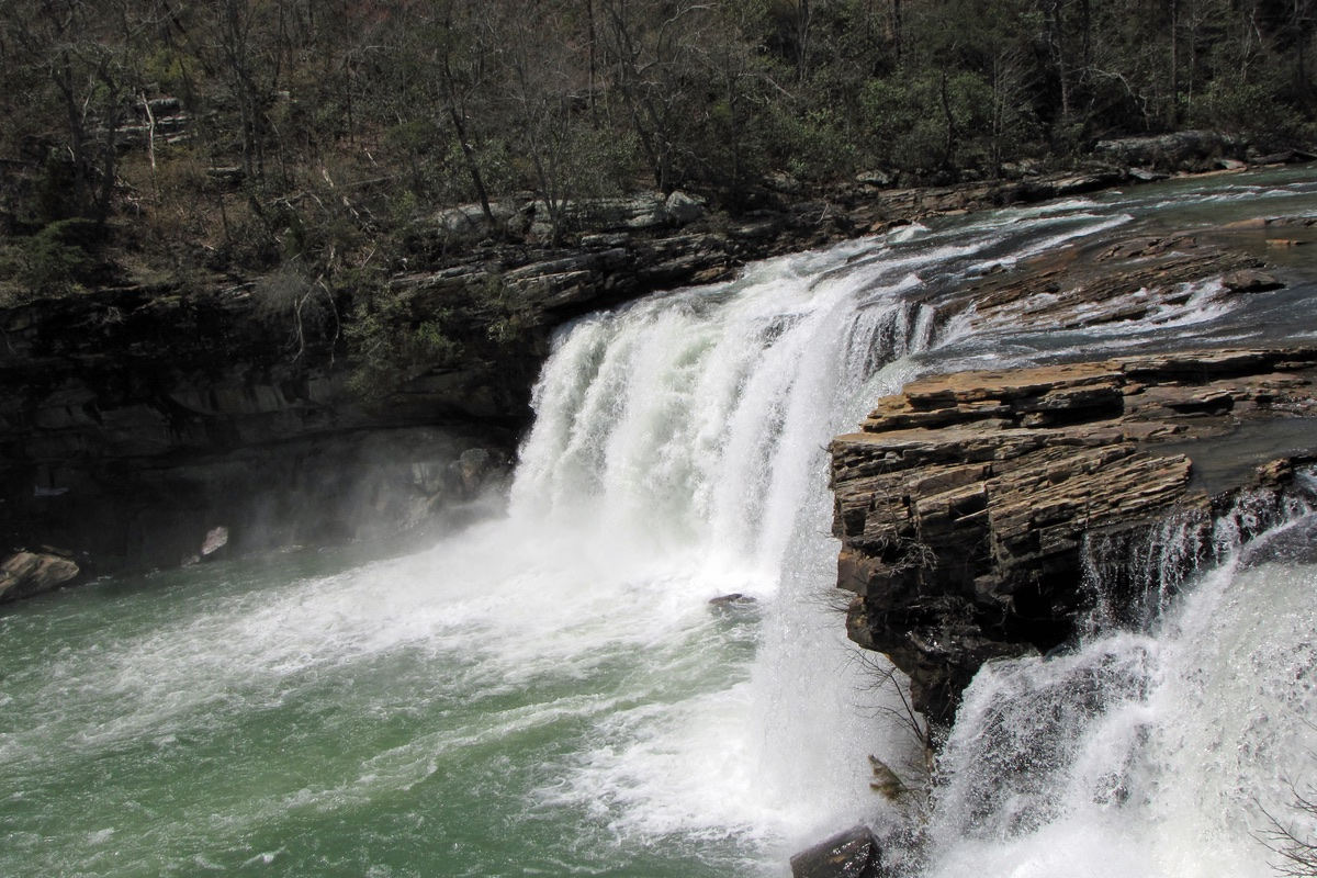 Waterfall in Little River Canyon National Monument in Alabama.