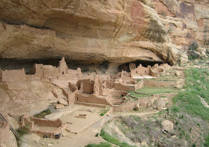 Long House in Mesa Verde National Park near Durango, Colorado.