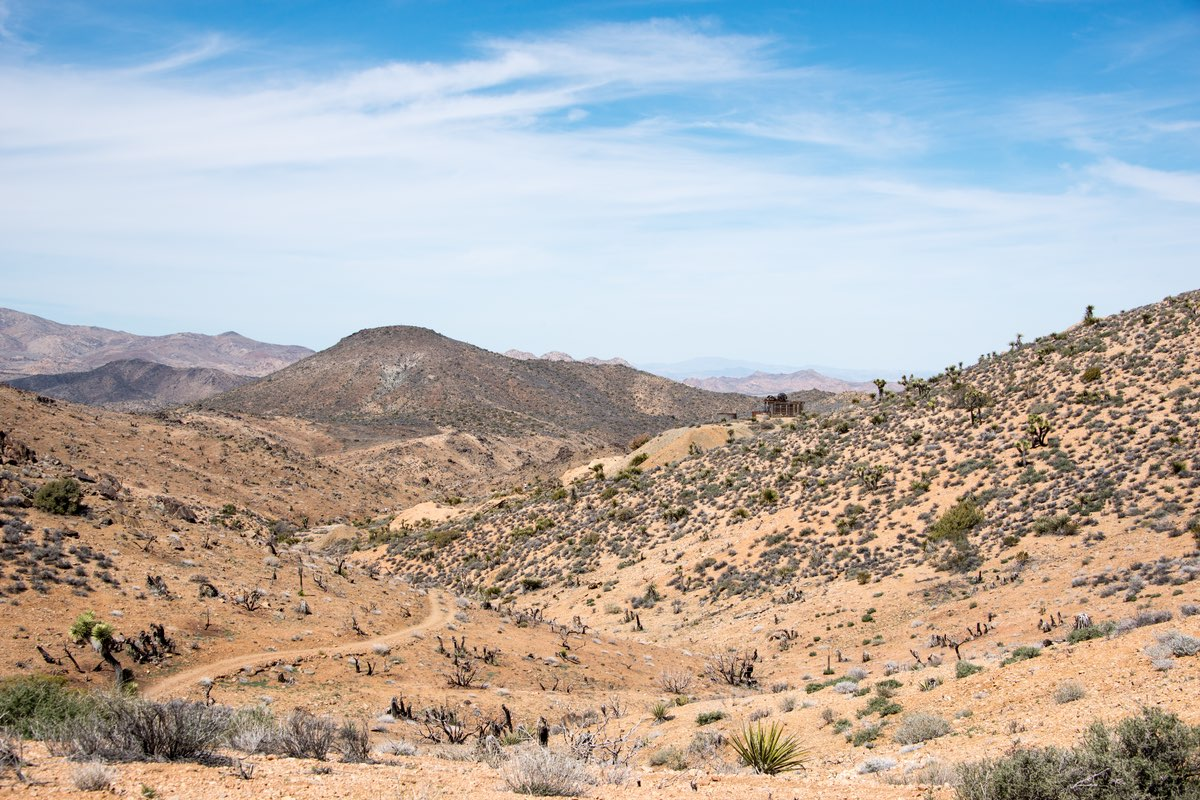 Hiking Lost Horse Mine Trail in Joshua Tree National Park.