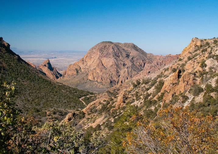 Beautiful vista along the Lost Mine Trail in Big Bend National Park, Texas.