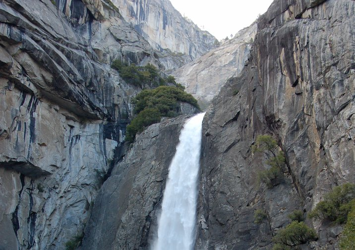 Lower Falls in Yosemite National Park, California.
