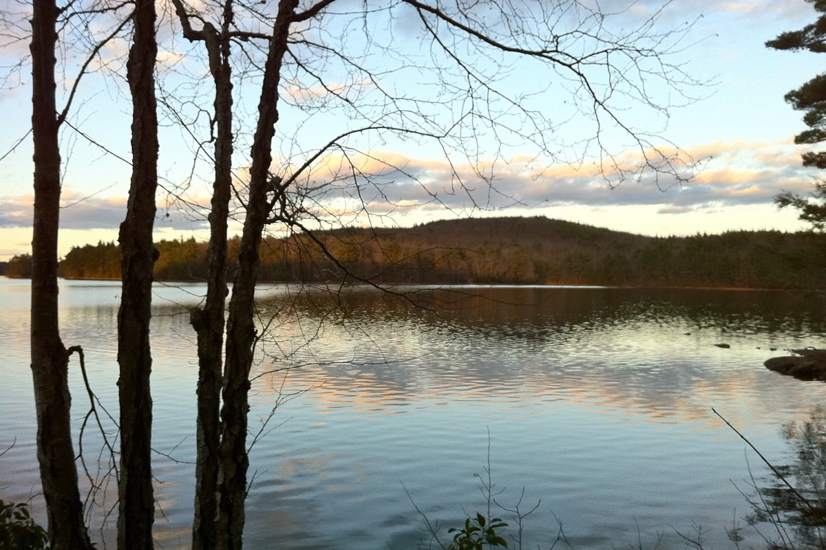 Hiking the Mashapaug Pond View Trail in Bigelow State Park.