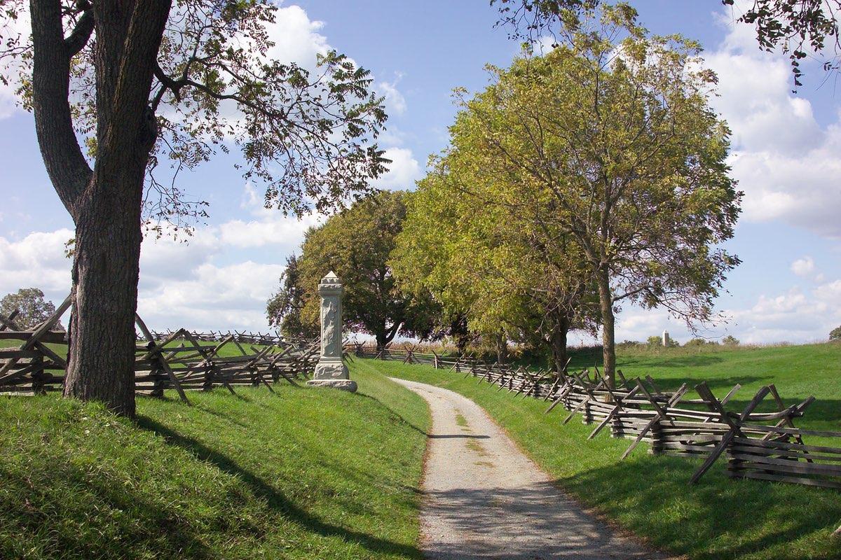 Bloody Lane in Antietam National Battlefield.
