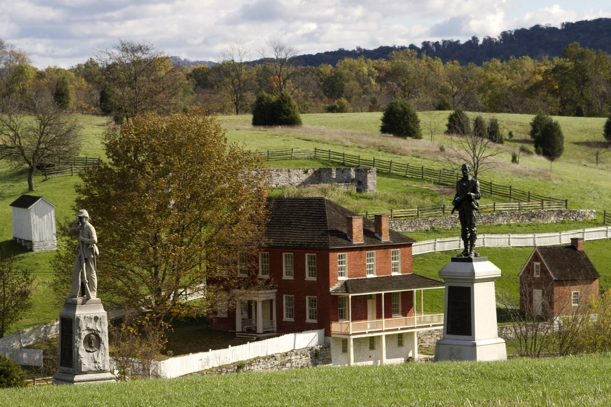 130th PA Monument in Antietam National Battlefield is near the Sherrick Farm Trail.