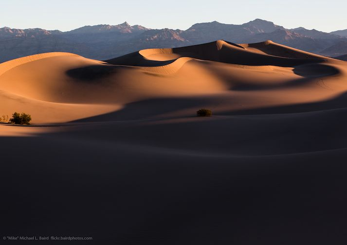 Mesquite Flat Sand Dunes in Death Valley National Park.
