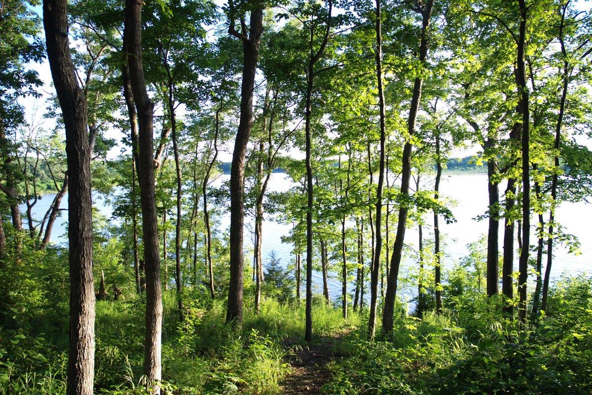 Hiking Mark Twain State Park in Missouri.