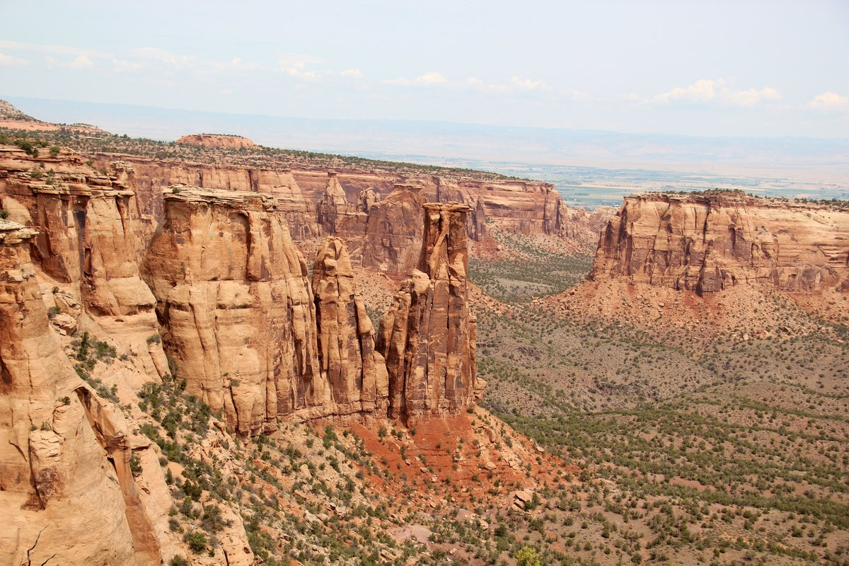 View along the Monument Canyon Trail in Colorado National Monument.