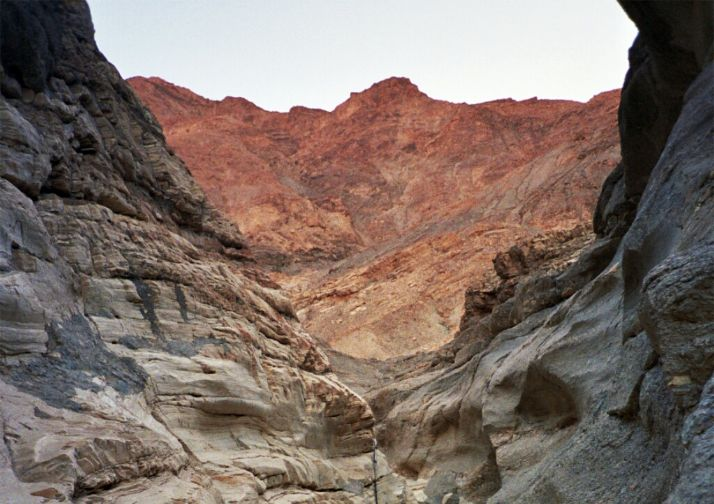 Beautiful Mosaic Canyon in Death Valley National Park.