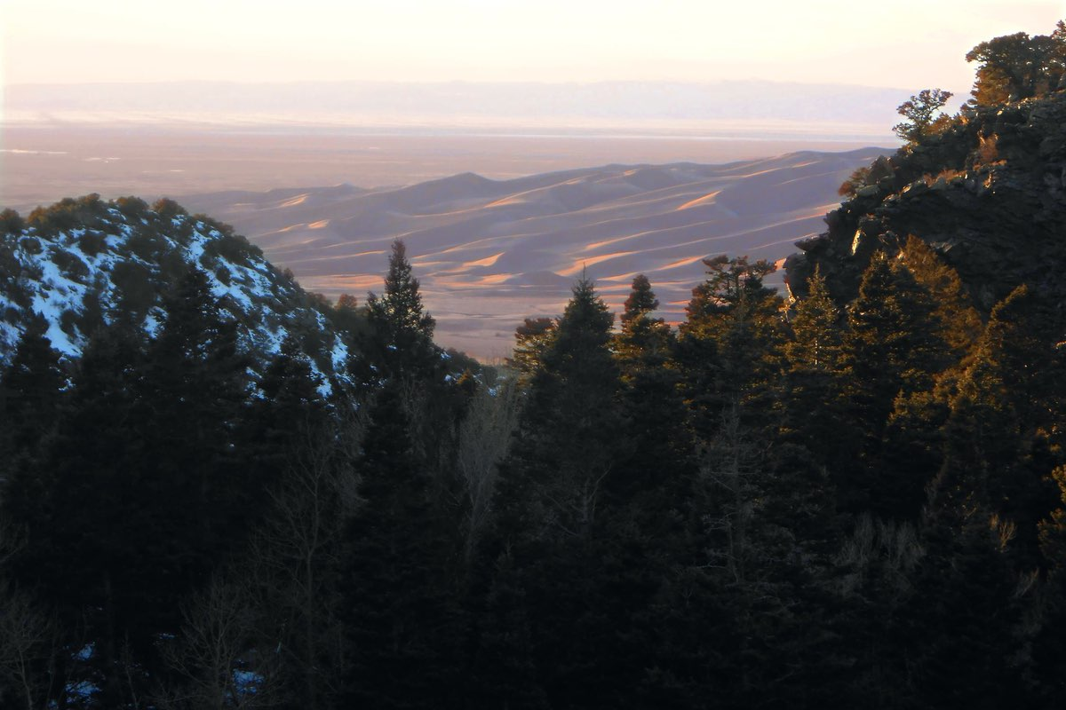Dunes at Sunset from Mosca Pass Trail in GSDNP.
