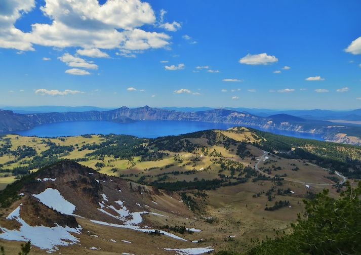 View of Crater Lake from Mount Scott Trail.