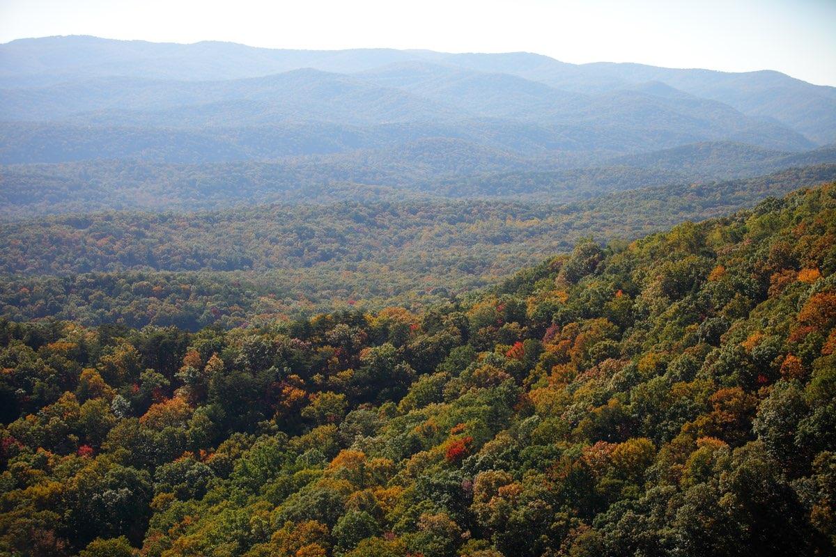 Mountain view in Amicalola State Park, Georgia.