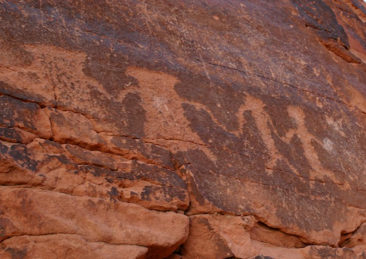 Petroglyphs along Mouse's Trap Trail in Valley of Fire State Park near Las Vegas, Nevada.