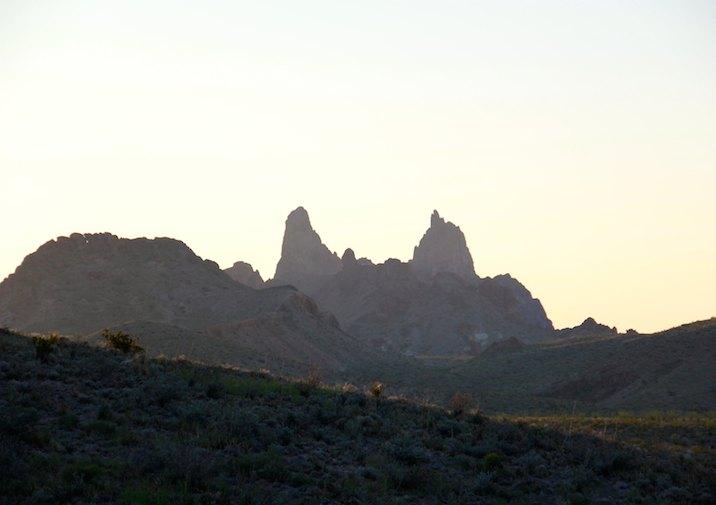 Mules Ears Peaks in Big Bend National Park, Texas.