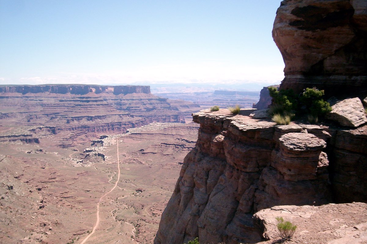 Amazing view from the Murphy Point Trail in Canyonlands National Park.