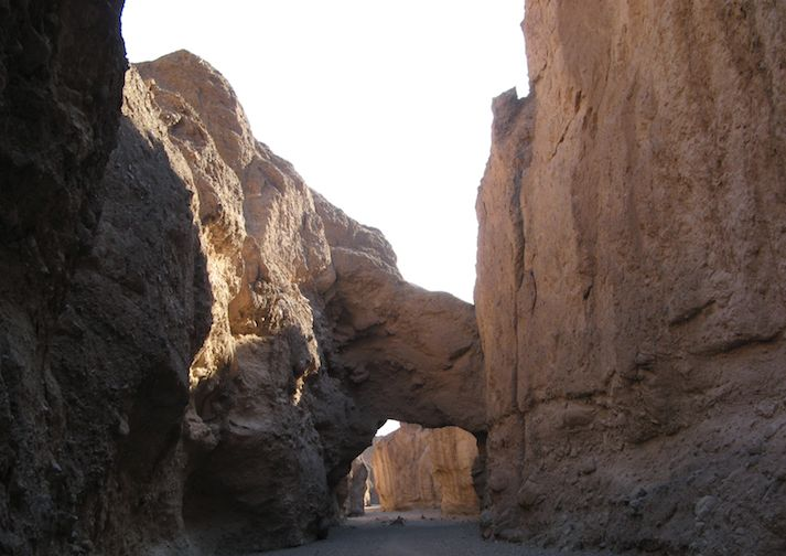 Beautiful Natural Bridge in Death Valley National Park.