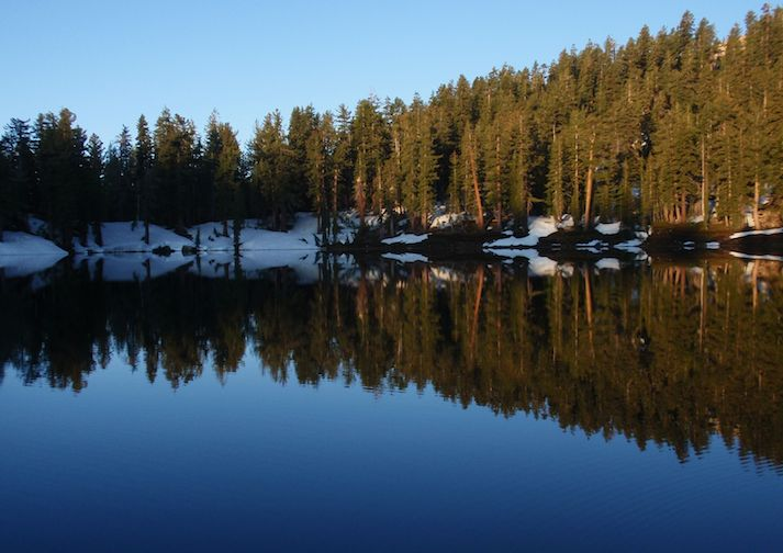 Beautiful Nellie Lake in the Sierra National Forest near Fresno California