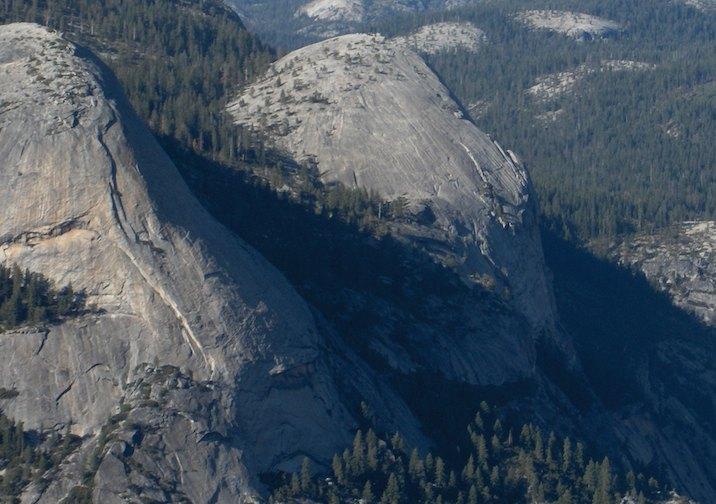 North Dome in Yosemite National Park, California.