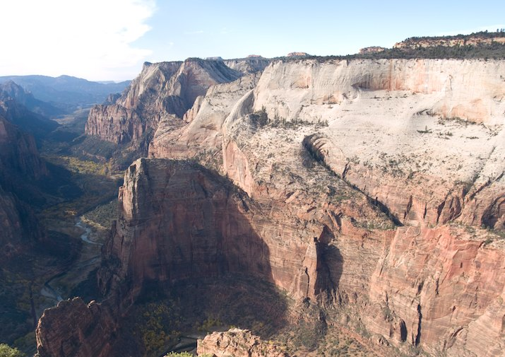 View from Observation Point in Zion National Park.