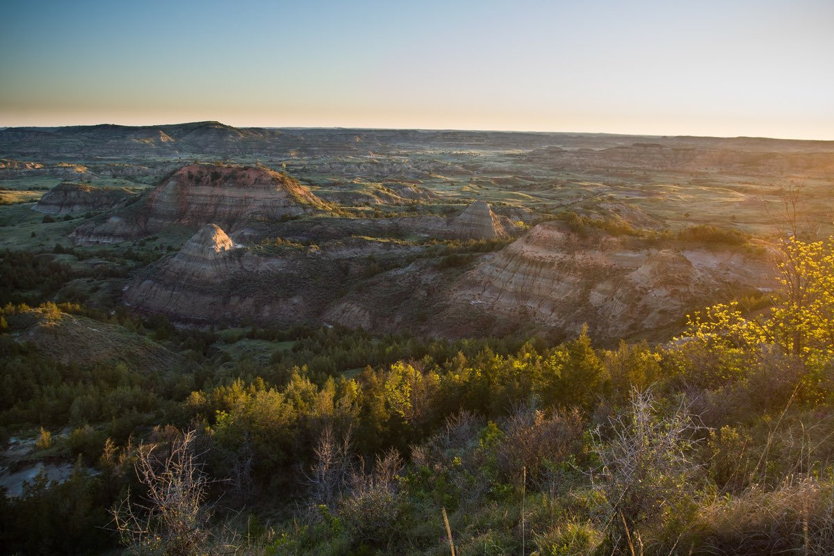 Vista along the Painted Canyon Loop in Theodore Roosevelt National Park.