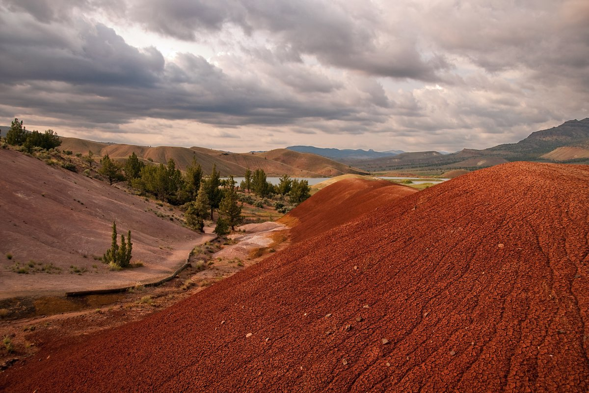 Stunning Painted Hills Unit of John Day Fossil Beds National Monument.